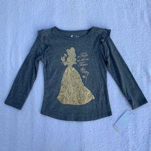 "Disney ""Belle"" Shirt Size 3T NWT"